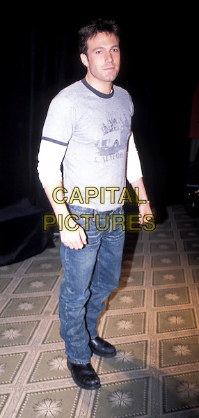 BEN AFFLECK.denim jeans, t-shirt.www.capitalpictures.com.sales@capitalpictures.com.© Capital Pictures