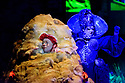 """EMBARGOED UNTIL 23:00 FRIDAY 18 OCTOBER 2019: English National Opera presents """"The Mask of Orpheus"""", by Sir Harrison Birthwhistle, libretto by Peter Zinovieff, at the London Coliseum, in its first London restaging in the 30 years since its premiere, coinciding with the celebration of Sir Harrison's 85th birthday. Directed by Daniel Kramer, with lighting design by Peter Mumford, set design by Lizzie Clachan and costume design by Daniel Lismore. Picture shows: Daniel Norman (Orpheus the Myth), Claire Barnett Jones (Eurydice the Myth)"""