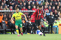 Philip Billing of Bournemouth runs with the ball and comes under pressure from Moritz Leitner of Norwich City during the Premier League match between Bournemouth and Norwich City at Goldsands Stadium on October 19th 2019 in Bournemouth, England. (Photo by Mick Kearns/phcimages.com)<br /> Foto PHC/Insidefoto <br /> ITALY ONLY