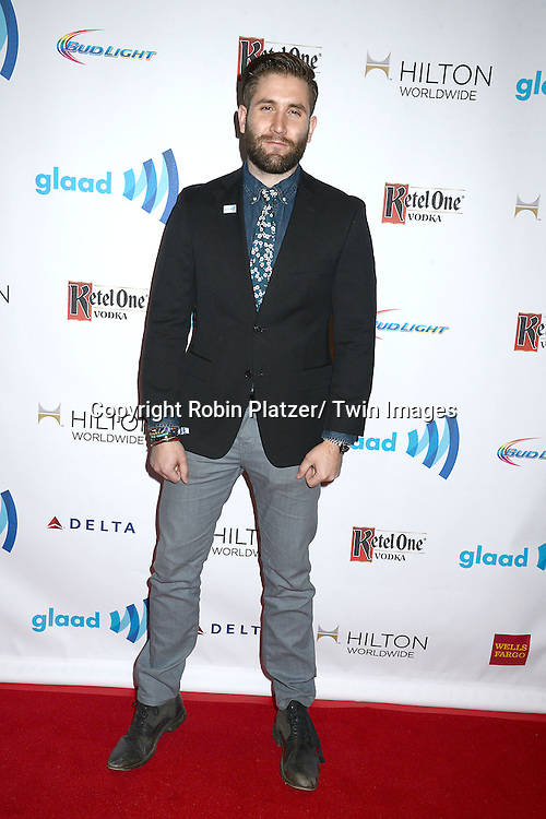 actor Jared Allman attends the 25th Annual GLAAD Media Awards at the Waldorf Astoria Hotel in New York City, NY on May 3, 2014.