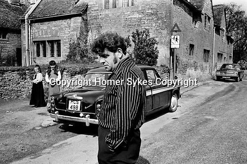 Upper Slaughter Gloucestershire 1970s UK. Mr Lockey.