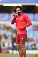 Mo Salah of Liverpool warming up before the Premier League match between Chelsea and Liverpool at Stamford Bridge on September 29th 2018 in London, England. (Photo by Zed Jameson/phcimages.com)<br /> 29-09-2018 Premier League <br /> Chelsea - Liverpool<br /> Foto PHC Images / Panoramic / Insidefoto <br /> ITALY ONLY