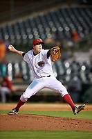 Florida Fire Frogs relief pitcher Sean McLaughlin (17) delivers a pitch during a game against the Daytona Tortugas on April 6, 2017 at Osceola County Stadium in Kissimmee, Florida.  Daytona defeated Florida 3-1.  (Mike Janes/Four Seam Images)
