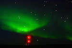 CHURCHILL AIRPORT AND THE  NORTHERN LIGHTS,  'Aurora borealis' CHURCHILL, MANITOBA, CANADA
