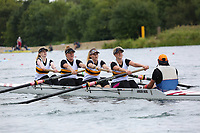 Race: 66  W.4+ (Band 2)  Heat 2<br /> <br /> Peterborough Summer Regatta 2018 - Sunday<br /> <br /> To purchase this photo, or to see pricing information for Prints and Downloads, click the blue 'Add to Cart' button at the top-right of the page.