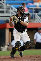 July 11th 2008:  Catcher Robert Taylor of the Jamestown Jammers, Class-A affiliate of the Florida Marlins, during a game at Russell Diethrick Park in Jamestown, NY.  Photo by:  Mike Janes/Four Seam Images