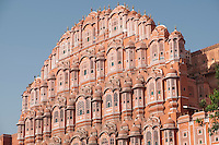 Built of red and pink sandstone, its unique five-stored exterior is akin to the honeycomb of the beehive with its 953 small windows that are decorated with intricate latticework.