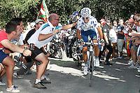 Alejandro Valverde during the stage of La Vuelta 2012 between Palas de Rei and Puerto de Ancares.September 1,2012. (ALTERPHOTOS/Paola Otero) NortePhoto.com<br /> <br /> **CREDITO*OBLIGATORIO** <br /> *No*Venta*A*Terceros*<br /> *No*Sale*So*third*<br /> *** No*Se*Permite*Hacer*Archivo**<br /> *No*Sale*So*third*