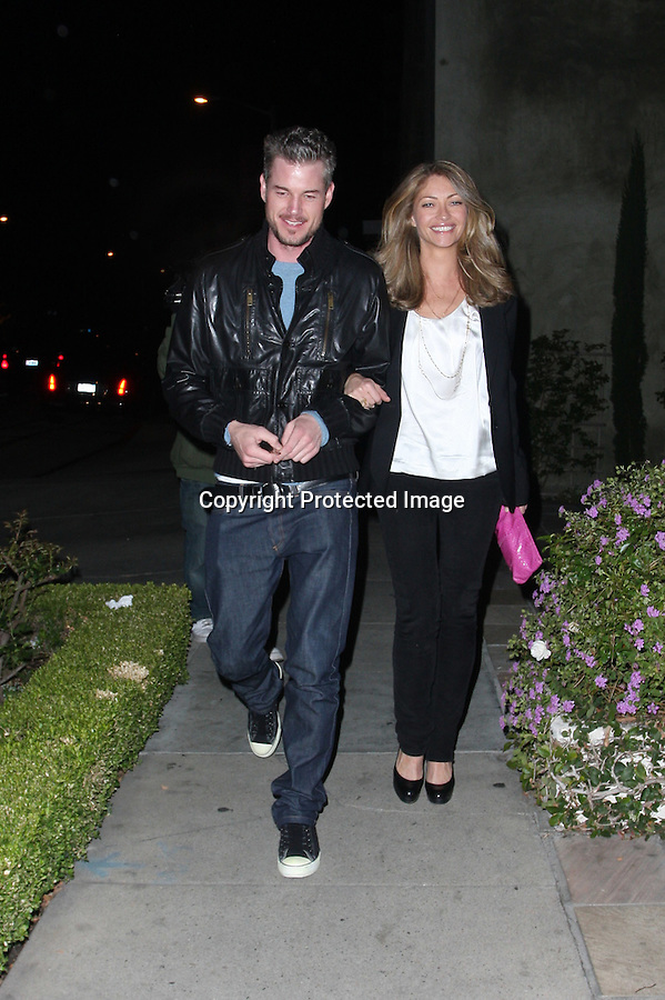 www.AbilityFilms.com.805-427-3519.AbilityFilms@yahoo.com..2-7-09.Eric Dane and Rebecca Gayheart leaving madeo's restaurant in Beverly Hills ca