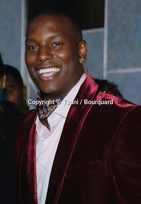 Tyrese Gibson arriving at the ANNAPOLIS Premiere at the El Capitan Theatre In Los Angeles. January 23, 2006.