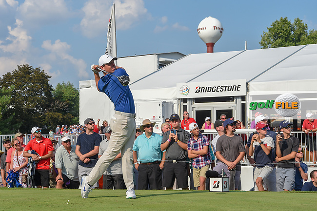 Rory McIlroy (NIR) watches his tee shot on 17 during 4th round of the World Golf Championships - Bridgestone Invitational, at the Firestone Country Club, Akron, Ohio. 8/5/2018.<br /> Picture: Golffile   Ken Murray<br /> <br /> <br /> All photo usage must carry mandatory copyright credit (© Golffile   Ken Murray)