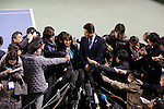 (L-R) Ai Sugiyama, Shuzo Matsuoka, MARCH 4, 2013 : IOC Evaluation Commission visit at Ariake Coliseum, Tokyo, Japan. (Photo by AFLO SPORT)