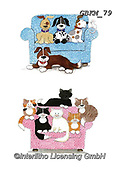 Kate, CUTE ANIMALS, LUSTIGE TIERE, ANIMALITOS DIVERTIDOS, paintings+++++Cats & Dogs page 29,GBKM79,#ac#, EVERYDAY ,cat,cats ,dogs,dog