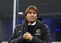 Calcio, Serie A: Inter Milano - Hellas Verona, Giuseppe Meazza stadium, November 9, 2019.<br /> Inter's coach Antonio Conte prior to the Italian Serie A football match between Inter and Hellas Verona at Giuseppe Meazza (San Siro) stadium, on November 9, 2019.<br /> UPDATE IMAGES PRESS/Isabella Bonotto