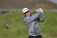Matias Honkala (FIN) on the 5th tee during Round 1 of the The Amateur Championship 2019 at The Island Golf Club, Co. Dublin on Monday 17th June 2019.<br /> Picture:  Thos Caffrey / Golffile<br /> <br /> All photo usage must carry mandatory copyright credit (© Golffile | Thos Caffrey)