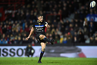 Rhys Priestland of Bath Rugby drop kicks a conversion. Heineken Champions Cup match, between Stade Toulousain and Bath Rugby on January 20, 2019 at the Stade Ernest Wallon in Toulouse, France. Photo by: Patrick Khachfe / Onside Images
