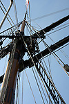 The mast of the Friendship Good Will Ship
