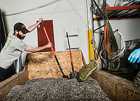 Brian McCormick (cq) mixes soil for marijuana plants at the Medicine Man grow house in Denver, Colorado, Tuesday, March 5, 2013. With Colorado's Amendment 64, the state has been working to decide how it will transition to legalized marijuana in the state...Photo by Matt Nager