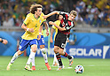 David Luiz (BRA), Thomas Muller (GER),<br /> JULY 8, 2014 - Football / Soccer :<br /> FIFA World Cup Brazil 2014 Semi-finals match between Brazil 1-7 Germany at Estadio Mineirao in Belo Horizonte, Brazil. (Photo by SONG Seak-In/AFLO)