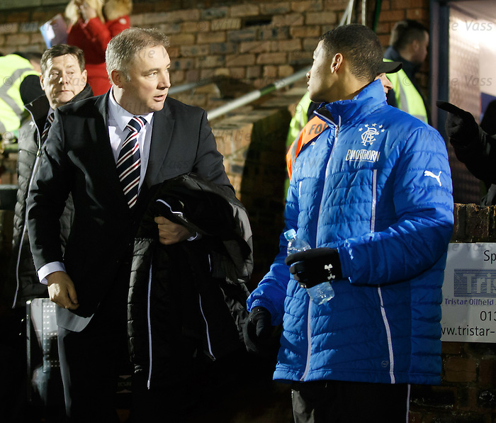 Ally McCoist and young striker Jamie Burrows