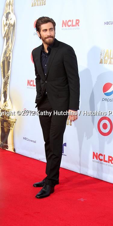 LOS ANGELES - SEP 16:  Jake Gyllenhaal arrives at the 2012 ALMA Awards at Pasadena Civic Auditorium on September 16, 2012 in Pasadena, CA