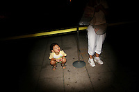 CHINA. Beijing. A young child on Tiananmen Square during the Beijing 2008 Summer Olympics. 2008
