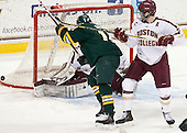 Jacob Fallon (UVM - 17), Patrick Wey (BC - 6) - The Boston College Eagles defeated the University of Vermont Catamounts 4-1 on Friday, February 1, 2013, at Kelley Rink in Conte Forum in Chestnut Hill, Massachusetts.