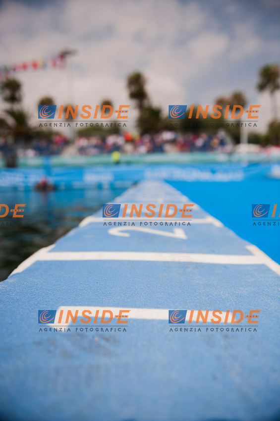 The start line<br /> Women 25 km <br /> Open Water<br /> 15th FINA World Aquatics Championships<br /> Barcelona 19 July - 4 August 2013<br /> Barcelona (Spain) 27/07/2013 <br /> &copy; Giorgio Perottino / Deepbluemedia.eu / Insidefoto