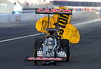 Nov. 9, 2012; Pomona, CA, USA: NHRA top fuel dragster driver Steve Torrence during qualifying for the Auto Club Finals at at Auto Club Raceway at Pomona. Mandatory Credit: Mark J. Rebilas-