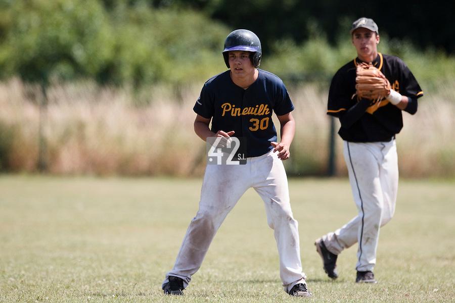 04 July 2010: Pitchers Pineuilh, little league, championnat Cadets, Ronchin, France.