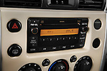 Stereo audio system close up detail view of a 2008 Toyota FJ Cruiser