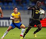 Nederland, Waalwijk, 24 augustus 2012.Seizoen 2012-2013.RKC-Roda JC.Danilo Luis Helio Pereira (r.) van Roda JC schermt de bal af voor Rodney Sneijder (l.) van RKC