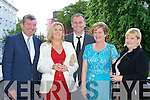 Dáithí O'Sé the host of Celebrity Restaurant in aid of the Kerry Rape and Sexual Abuse Centre at the Plaza Hotel Killarney on Thursday evening with l-r: Micheál O'Donoghue, Angela Ring-O'Donoghue, Dorris Coffey and Maureen Ring.