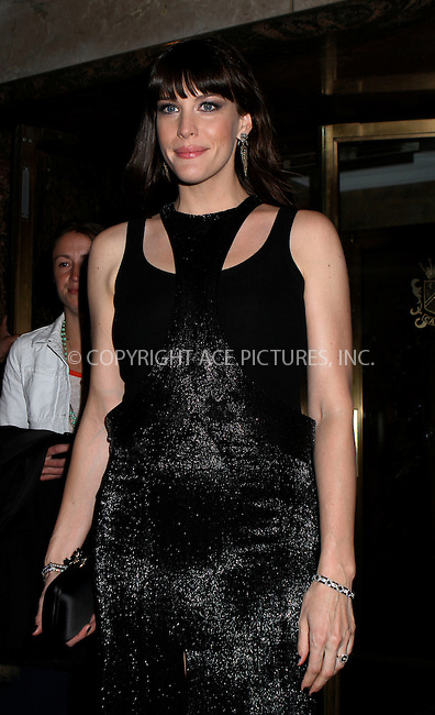 WWW.ACEPIXS.COM . . . . .  ....May 7 2012, New York City....Liv Tyler leaves her hotel on the way to the Met Gala on May 7 2012 in New York City....Please byline: NANCY RIVERA- ACEPIXS.COM.... *** ***..Ace Pictures, Inc:  ..Tel: 646 769 0430..e-mail: info@acepixs.com..web: http://www.acepixs.com