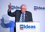 United States Senator Bernie Sanders (Independent of Vermont) makes remarks at the Center for American Progress' 2018 Ideas Conference at the Renaissance Hotel in Washington, DC on Tuesday, May 15, 2018.<br /> Credit: Ron Sachs / CNP<br /> (RESTRICTION: NO New York or New Jersey Newspapers or newspapers within a 75 mile radius of New York City) | usage worldwide