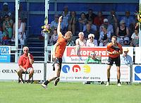 KAATSEN: MENALDUM: 09-08-2015, Winnaars Gert-Anne van der Bos (koning), Taeke Triemstra, Daniël Iseger, ©foto Martin de Jong