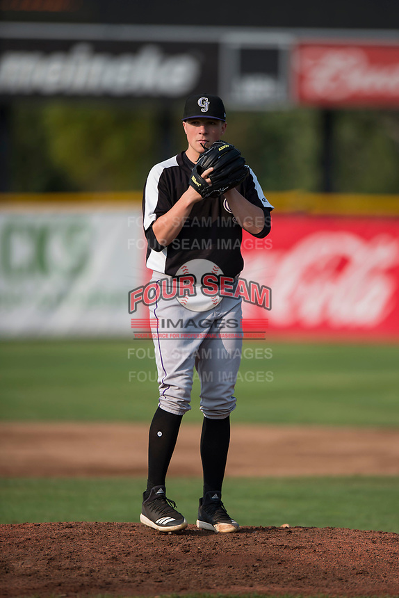 Grand Junction Rockies starting pitcher Ryan Rolison (24) prepares to deliver a pitch during a Pioneer League game against the Missoula Osprey at Ogren Park Allegiance Field on August 21, 2018 in Missoula, Montana. The Missoula Osprey defeated the Grand Junction Rockies by a score of 2-1. (Zachary Lucy/Four Seam Images)