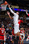 Devin Thomas (2) of the Wake Forest Demon Deacons drives to the basket during first half action against the Louisville Cardinals at the LJVM Coliseum on January 4, 2015 in Winston-Salem, North Carolina.  The Cardinals defeated the Demon Deacons 85-76.  (Brian Westerholt/Sports On Film)