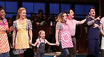 "Charity Angel Dawson, Stephanie Torns, Riley Summer Perler, Christopher Fitzgerald with Joey McIntyre during his debut bows in Broadway's  ""Waitress"" at The Brooks Atkinson Theatre on February 4, 2019 in New York City."