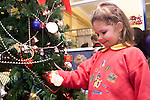 Makhila O'Keeffe checking out the Christmas tree on the 5th Floor of the Lourdes Hospital..Picture Paul Mohan Newsfile