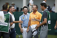 Louis Oosthuizen (RSA), Mikko Korhoenen (FIN) and Sergio Garcia (ESP) on the 18th during the 3rd round at the Nedbank Golf Challenge hosted by Gary Player,  Gary Player country Club, Sun City, Rustenburg, South Africa. 10/11/2018 <br /> Picture: Golffile | Tyrone Winfield<br /> <br /> <br /> All photo usage must carry mandatory copyright credit (&copy; Golffile | Tyrone Winfield)