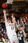JANUARY 23, 2015 -- Wyatt Krogman #11 of Black Hills State gets a layup past defender Alex Koehler #22 of UC-Colorado Springs during their Rocky Mountain Athletic Conference men's basketball game Friday at the Donald E. Young Center in Spearfish, S.D.  (Photo by Dick Carlson/Inertia)