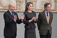 Queen Letizia of Spain and Spanish Culture Minister Ignacio Wert attend Velazquez Visual Arts Award ceremony at Prado Museum in Madrid, Spain. November 17, 2014. (ALTERPHOTOS/Victor Blanco)