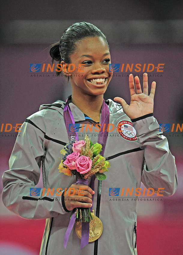 Gabrielle Douglas.London 02/08/2012 .London 2012 Olympic games  Women Gymnastic Artistic - Olimpiadi Londra 2012 Ginnastica artistica femminile concorso generale individuale.Foto Imago / Insidefoto.ITALY ONLY..
