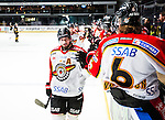Stockholm 2014-01-08 Ishockey SHL AIK - Lule&aring; HF :  <br />  Lule&aring;s Niklas Olausson g&ouml;r high five med lagkamrater after att Lule&aring;s Anton Hedman gjort 2-0<br /> (Foto: Kenta J&ouml;nsson) Nyckelord:  jubel gl&auml;dje lycka glad happy