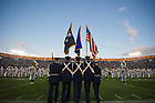 Sept. 22, 2012; The Color Guard takes the field...Photo by Matt Cashore