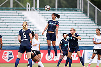 Cary, North Carolina  - Saturday July 01, 2017: Abby Erceg during a regular season National Women's Soccer League (NWSL) match between the North Carolina Courage and the Sky Blue FC at Sahlen's Stadium at WakeMed Soccer Park. Sky Blue FC won the game 1-0.