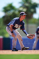 GCL Twins third baseman Aaron Whitefield (55) during a game against the GCL Orioles on August 11, 2016 at the Ed Smith Stadium in Sarasota, Florida.  GCL Twins defeated GCL Orioles 4-3.  (Mike Janes/Four Seam Images)