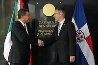 Visita del Presidente de la Republica Dominicana Leonel Fernandez al Senado de la republica de Mexico