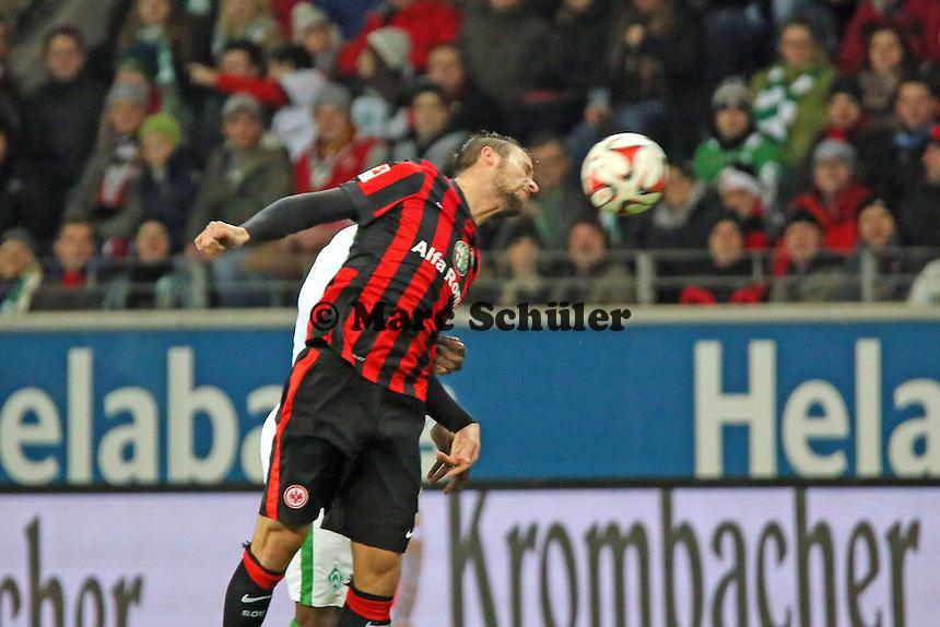 Kopfball Haris Seferovic (Eintracht) - Eintracht Frankfurt vs. SV Werder Bremen, Commerzbank Arena